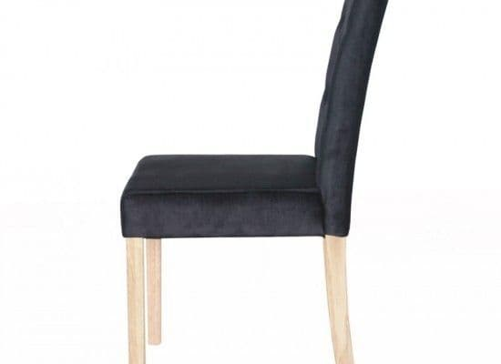 Thionville Black Crushed Velvet Set Of 2 Dining Chairs 17LD458